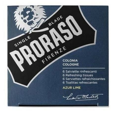 Proraso Cologne Refreshing Tissues - Azur Lime 6 stuks
