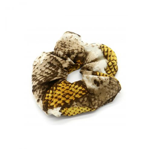 Salonline Scrunchie Animal Print Snake Yellow