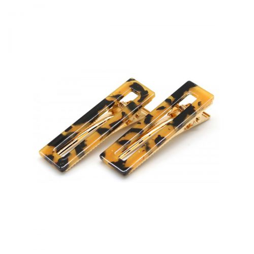 Salonline Hair Clips Classic Marble Brown